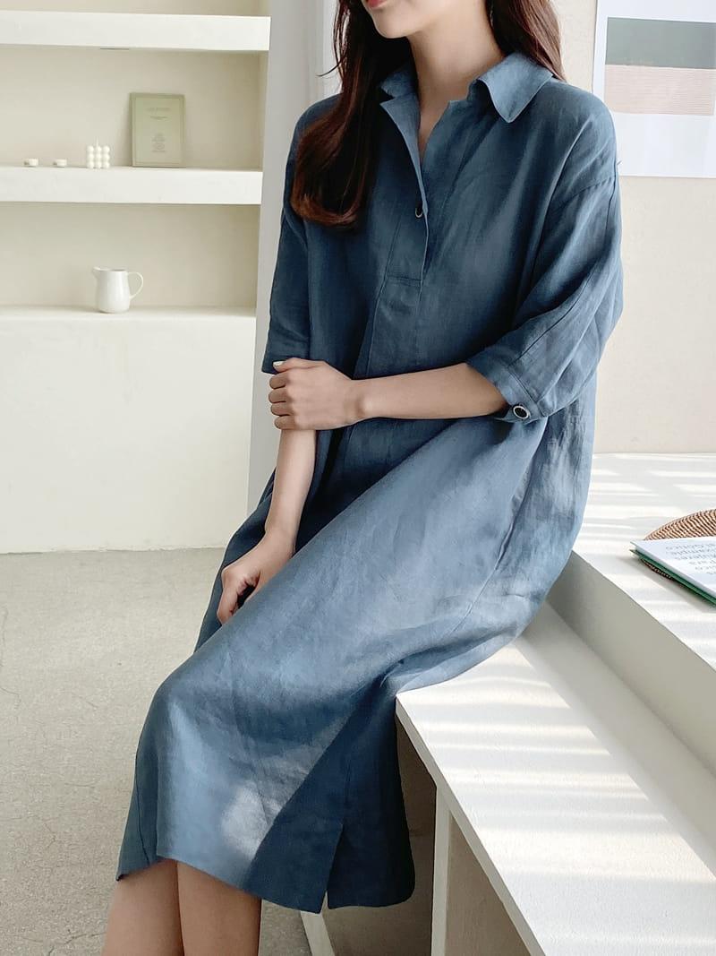 LOUISA - Korean Children Fashion - #Kfashion4kids - Donna a Linen One-piece