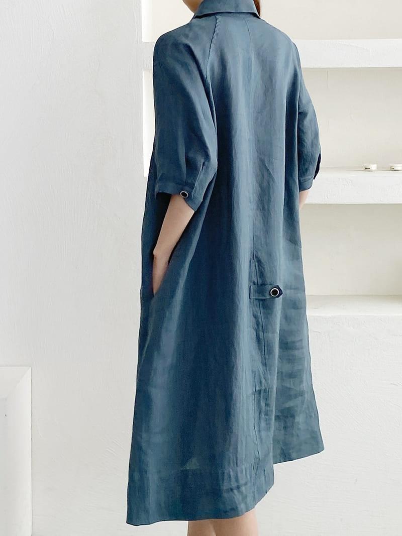 LOUISA - Korean Children Fashion - #Kfashion4kids - Donna a Linen One-piece - 2