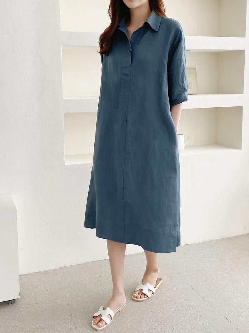 LOUISA - Korean Children Fashion - #Kfashion4kids - Donna a Linen One-piece - 3