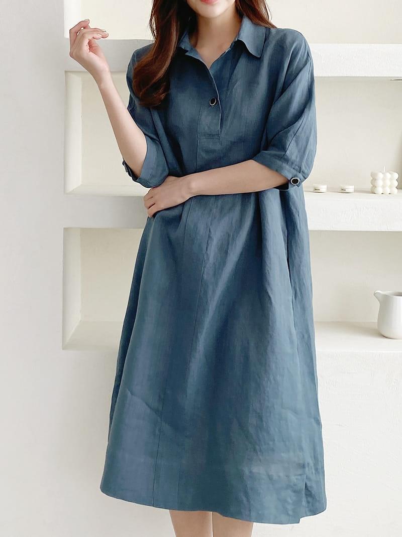 LOUISA - BRAND - Korean Children Fashion - #Kfashion4kids - Donna a Linen One-piece