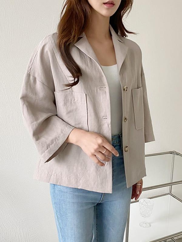 LOUISA - Korean Children Fashion - #Kfashion4kids - De An Linen Jacket