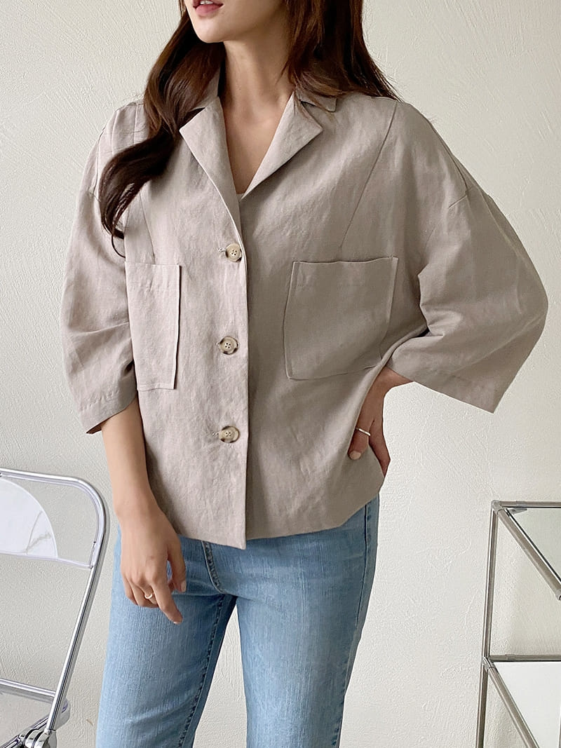 LOUISA - Korean Children Fashion - #Kfashion4kids - De An Linen Jacket - 2