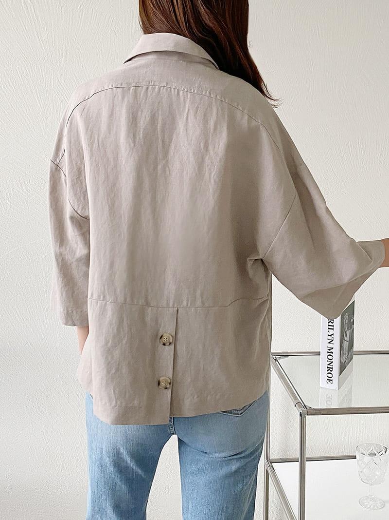 LOUISA - Korean Children Fashion - #Kfashion4kids - De An Linen Jacket - 3