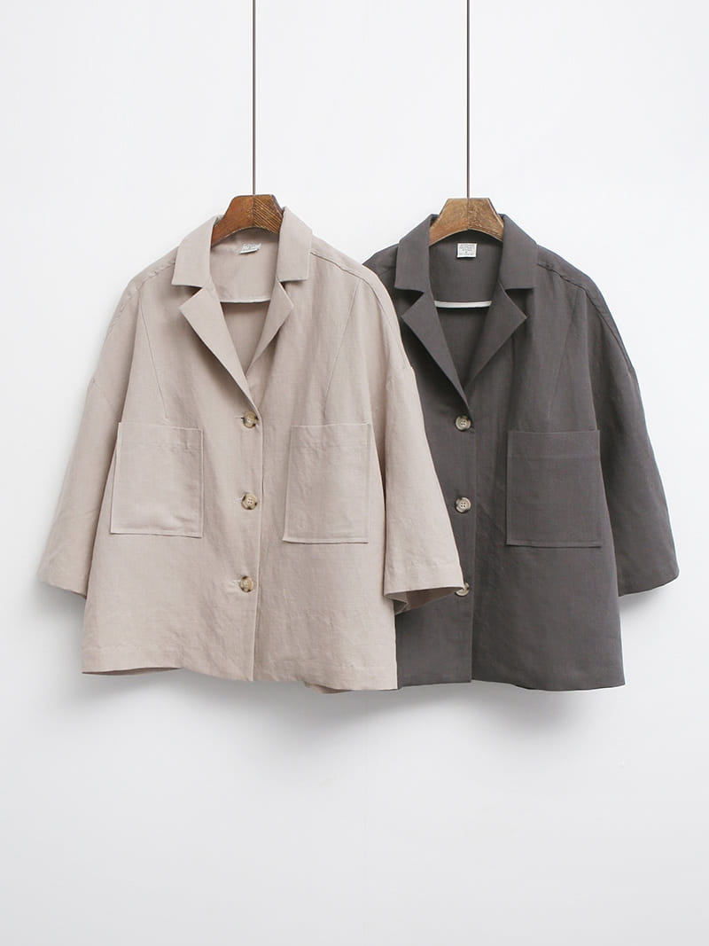 LOUISA - Korean Children Fashion - #Kfashion4kids - De An Linen Jacket - 4