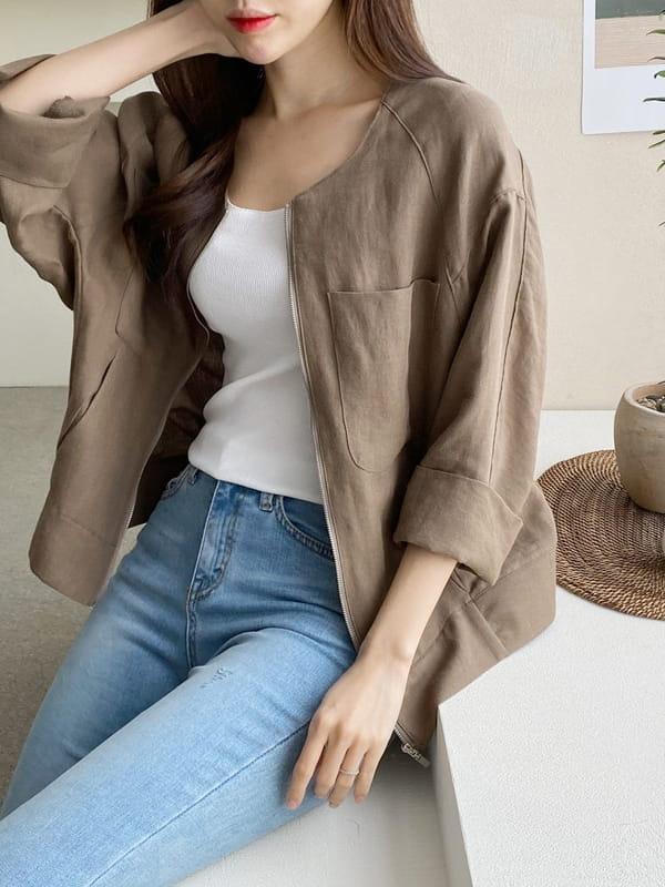 LOUISA - Korean Children Fashion - #Kfashion4kids - De Linen Jacket - 3