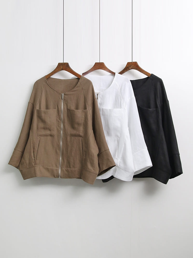 LOUISA - Korean Children Fashion - #Kfashion4kids - De Linen Jacket - 4