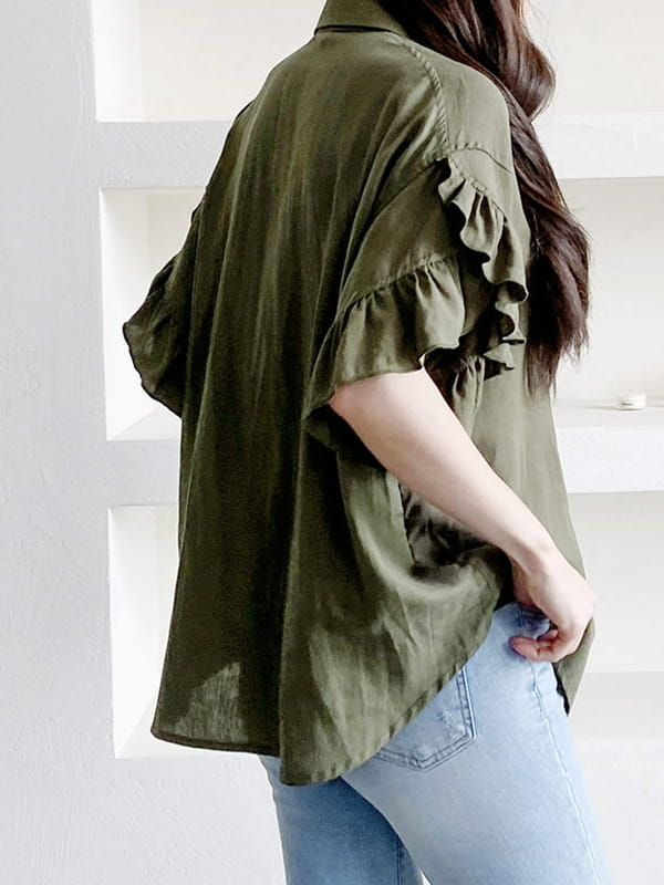 LOUISA - Korean Children Fashion - #Kfashion4kids - Gi Frill Blouse - 3
