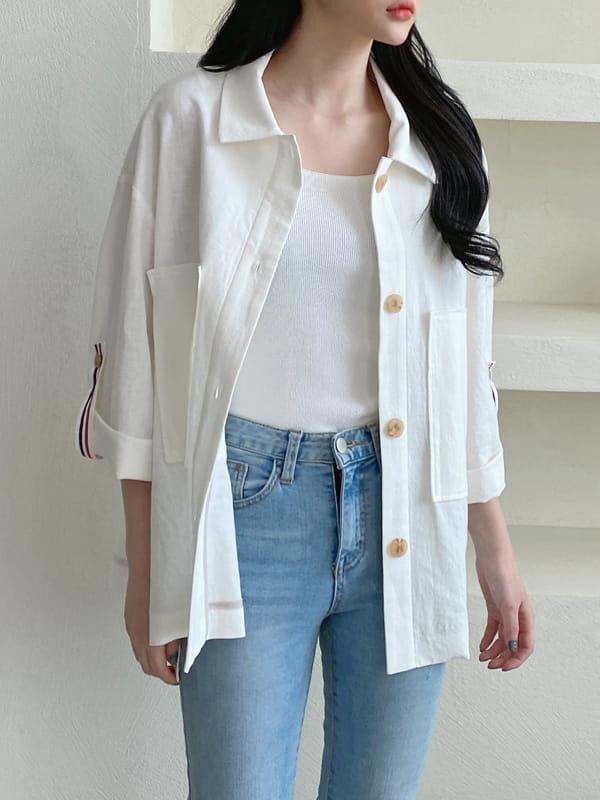 LOUISA - Korean Children Fashion - #Kfashion4kids - Tom Linen Jacket