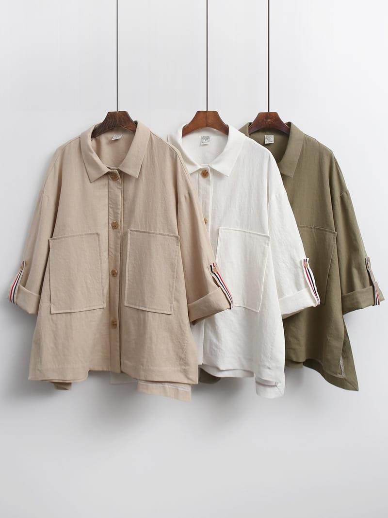 LOUISA - Korean Children Fashion - #Kfashion4kids - Tom Linen Jacket - 5