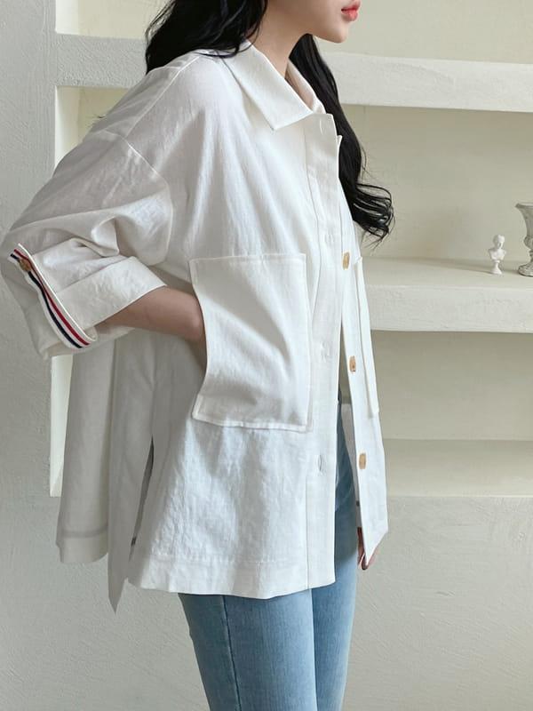 LOUISA - BRAND - Korean Children Fashion - #Kfashion4kids - Tom Linen Jacket