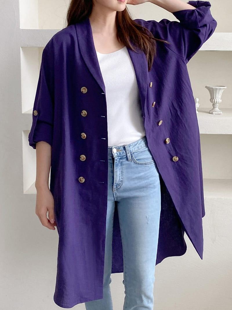 LOUISA - Korean Children Fashion - #Kfashion4kids - Al Linen Jacket One-piece
