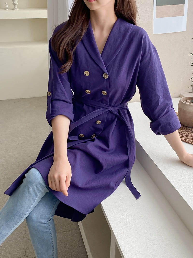 LOUISA - Korean Children Fashion - #Kfashion4kids - Al Linen Jacket One-piece - 2