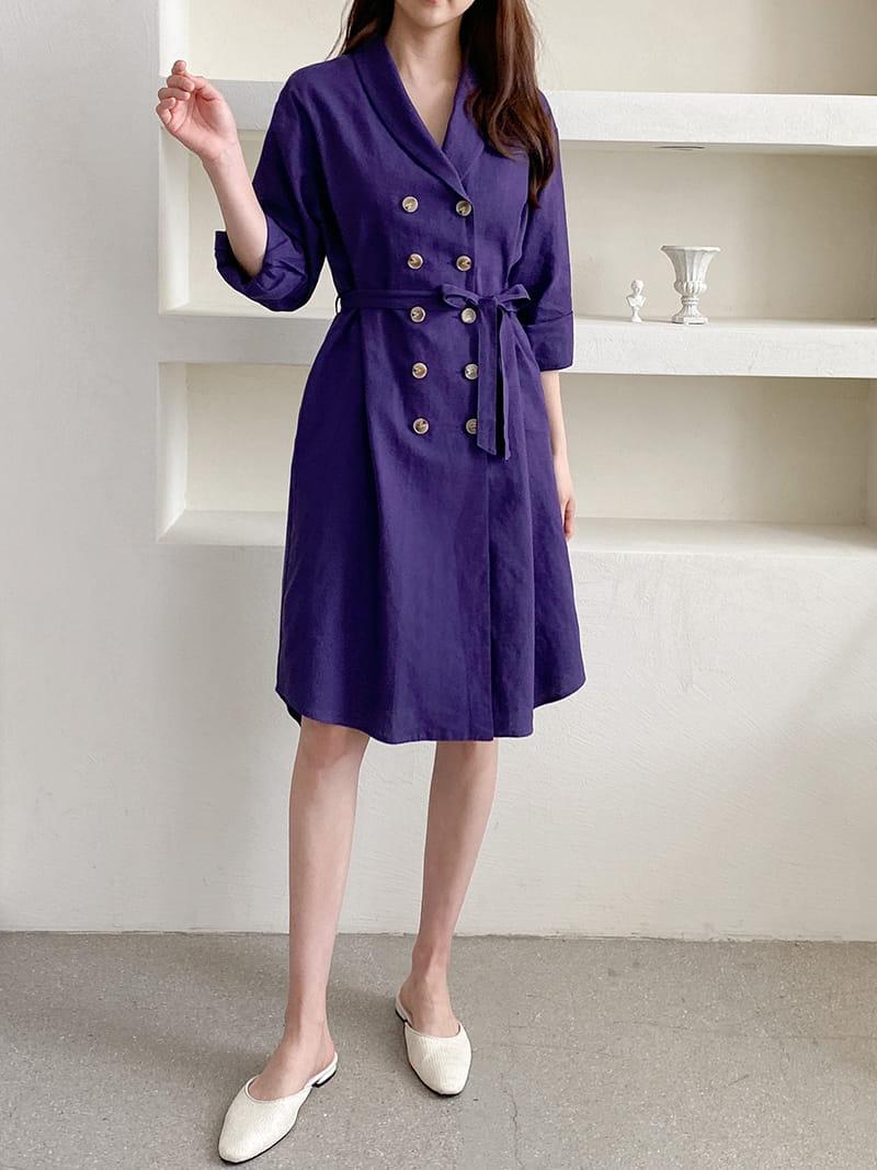 LOUISA - Korean Children Fashion - #Kfashion4kids - Al Linen Jacket One-piece - 3
