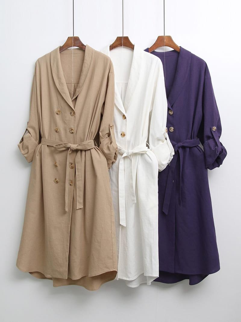 LOUISA - Korean Children Fashion - #Kfashion4kids - Al Linen Jacket One-piece - 4