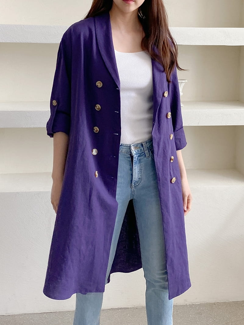 LOUISA - BRAND - Korean Children Fashion - #Kfashion4kids - Al Linen Jacket One-piece