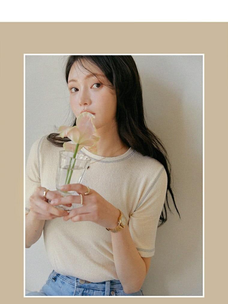 LOWELL - Korean Children Fashion - #Kfashion4kids - Line Tee