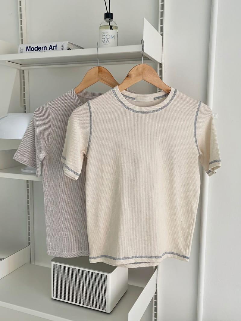 LOWELL - Korean Children Fashion - #Kfashion4kids - Line Tee - 4
