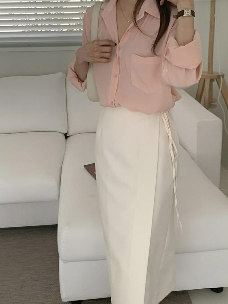LOWELL - BRAND - Korean Children Fashion - #Kfashion4kids - Wrap Skirt