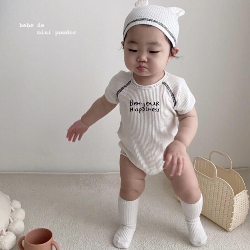 MINI POWDER - Korean Children Fashion - #Kfashion4kids - Bonjour Bodysuit with Bonnet
