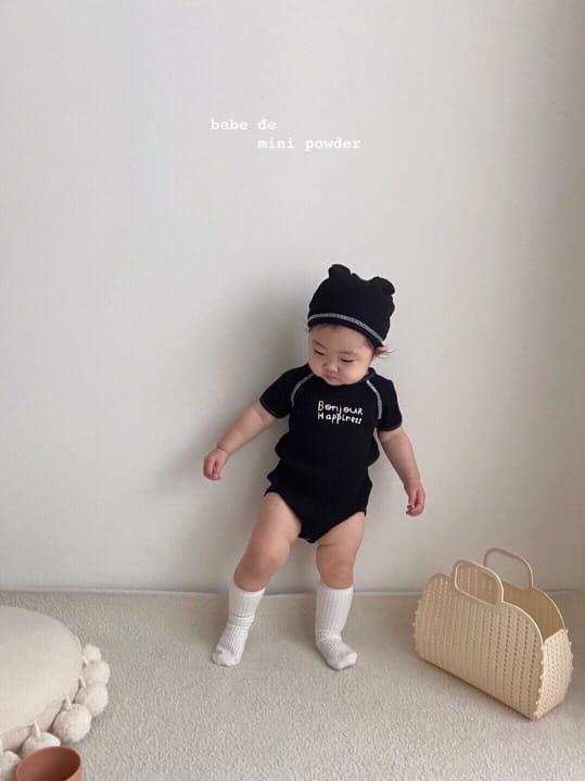 MINI POWDER - Korean Children Fashion - #Kfashion4kids - Bonjour Bodysuit with Bonnet - 12