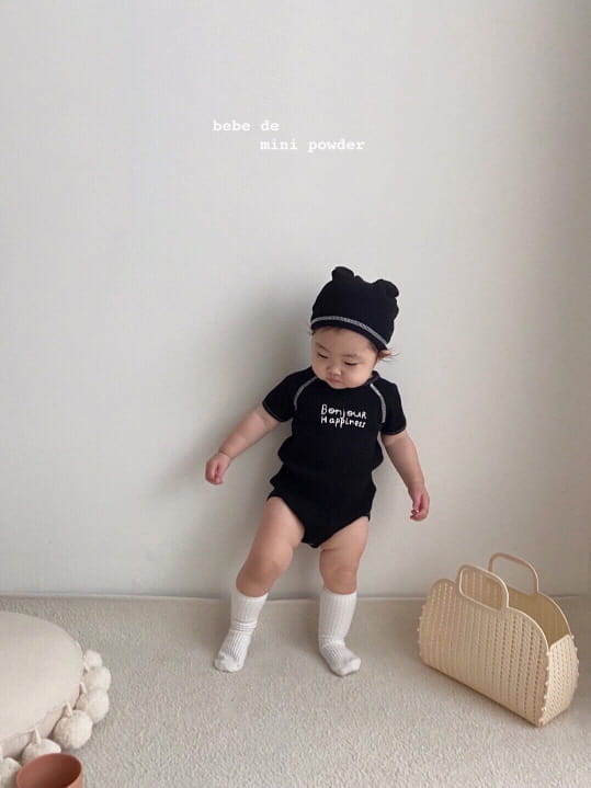 MINI POWDER - Korean Children Fashion - #Kfashion4kids - Bonjour Bodysuit with Bonnet - 2