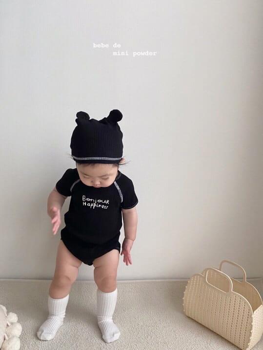 MINI POWDER - Korean Children Fashion - #Kfashion4kids - Bonjour Bodysuit with Bonnet - 3
