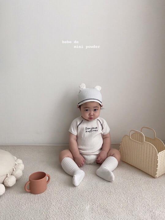 MINI POWDER - Korean Children Fashion - #Kfashion4kids - Bonjour Bodysuit with Bonnet - 5