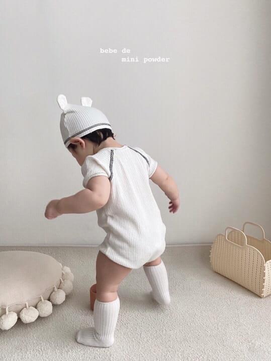 MINI POWDER - Korean Children Fashion - #Kfashion4kids - Bonjour Bodysuit with Bonnet - 6