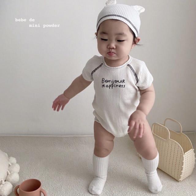 MINI POWDER - BRAND - Korean Children Fashion - #Kfashion4kids - Bonjour Bodysuit with Bonnet