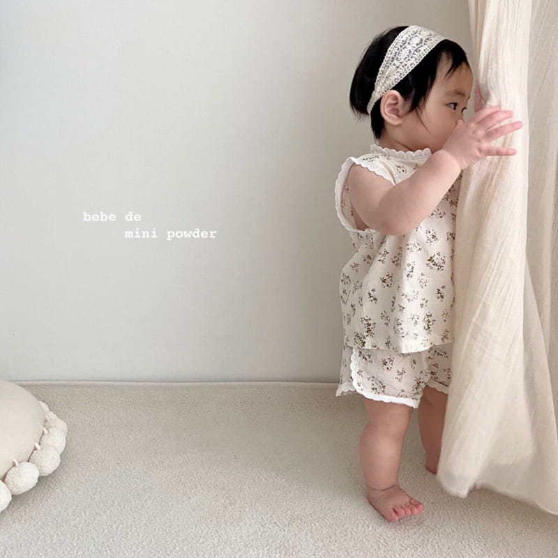 MINI POWDER - Korean Children Fashion - #Kfashion4kids - Lace Frill Top Bottom Set