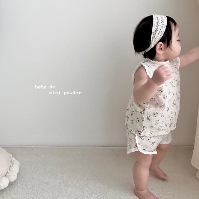 MINI POWDER - Korean Children Fashion - #Kfashion4kids - Lace Frill Top Bottom Set - 2