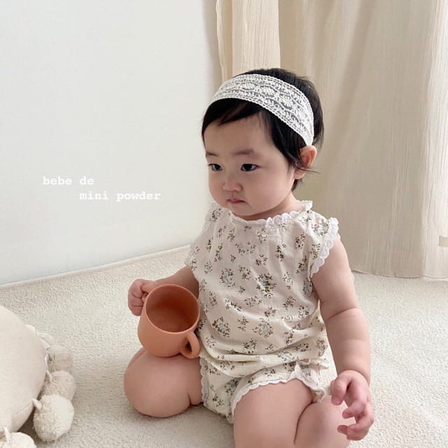 MINI POWDER - Korean Children Fashion - #Kfashion4kids - Lace Frill Top Bottom Set - 7
