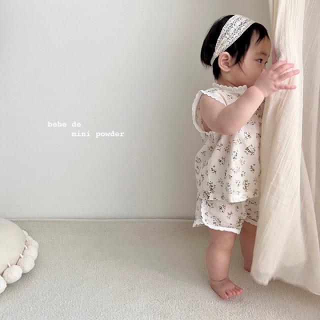 MINI POWDER - BRAND - Korean Children Fashion - #Kfashion4kids - Lace Frill Top Bottom Set