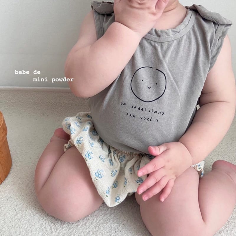 MINI POWDER - Korean Children Fashion - #Kfashion4kids - Cutting Shoulder Botton Tee