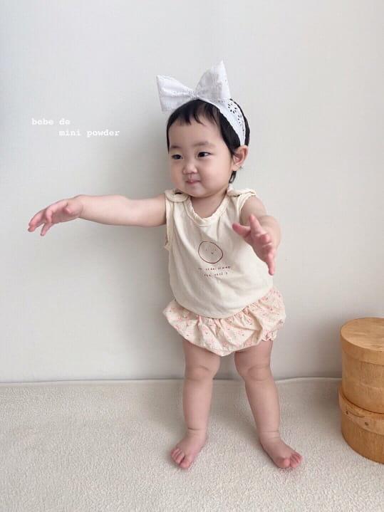MINI POWDER - Korean Children Fashion - #Kfashion4kids - Cutting Shoulder Botton Tee - 7