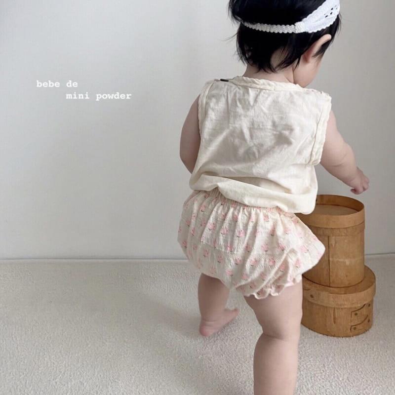 MINI POWDER - Korean Children Fashion - #Kfashion4kids - Floral Bloomers