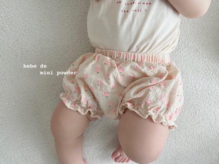 MINI POWDER - Korean Children Fashion - #Kfashion4kids - Floral Bloomers - 12