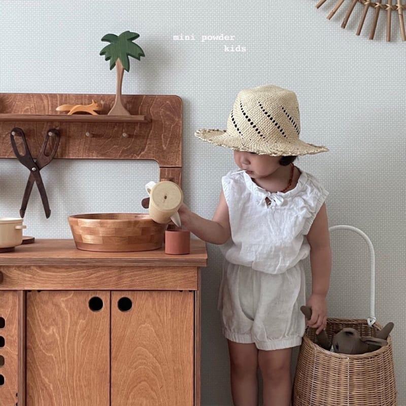 MINI POWDER - Korean Children Fashion - #Kfashion4kids - Banding Top Bottom Set