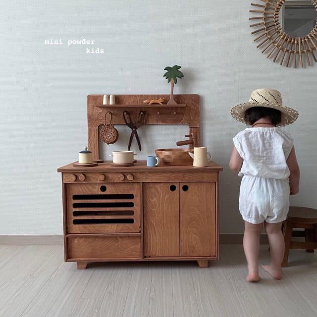 MINI POWDER - Korean Children Fashion - #Kfashion4kids - Banding Top Bottom Set - 2