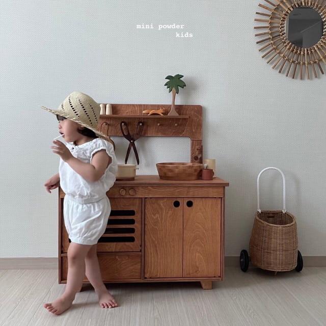 MINI POWDER - Korean Children Fashion - #Kfashion4kids - Banding Top Bottom Set - 4