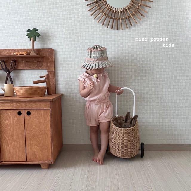 MINI POWDER - Korean Children Fashion - #Kfashion4kids - Banding Top Bottom Set - 5