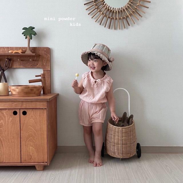 MINI POWDER - Korean Children Fashion - #Kfashion4kids - Banding Top Bottom Set - 6