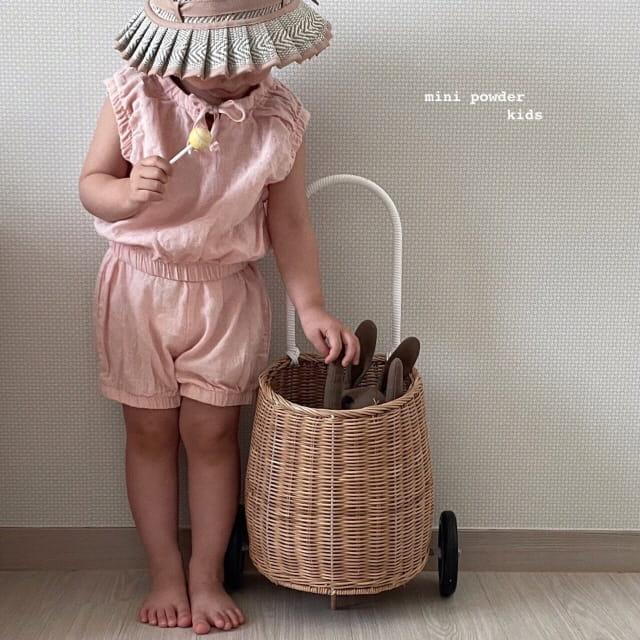 MINI POWDER - Korean Children Fashion - #Kfashion4kids - Banding Top Bottom Set - 7
