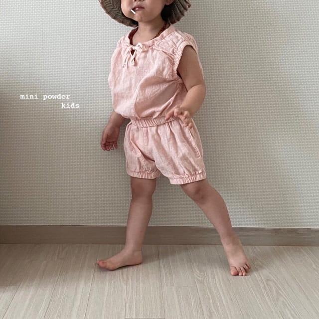 MINI POWDER - Korean Children Fashion - #Kfashion4kids - Banding Top Bottom Set - 8