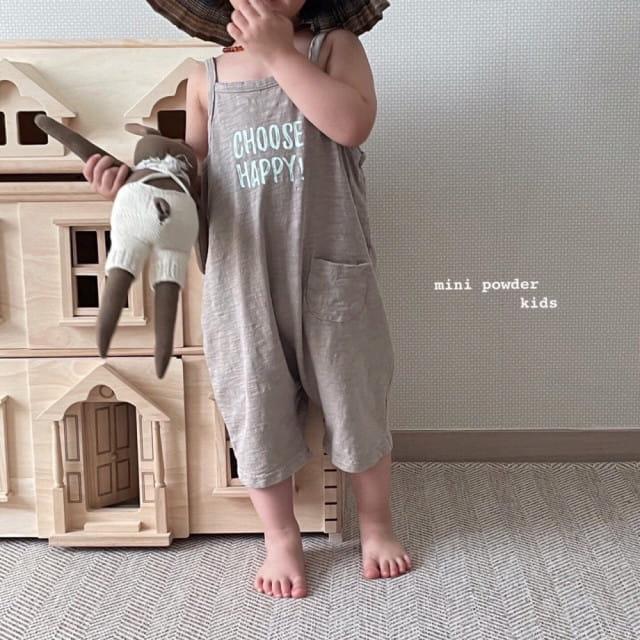 MINI POWDER - BRAND - Korean Children Fashion - #Kfashion4kids - Slap Jumpsuit