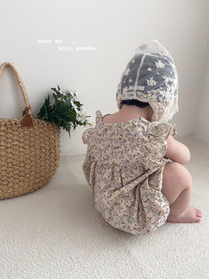 MINI POWDER - Korean Children Fashion - #Kfashion4kids - Linen Flower Bodysuit - 10