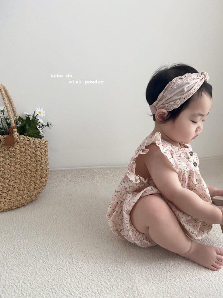 MINI POWDER - Korean Children Fashion - #Kfashion4kids - Linen Flower Bodysuit - 4