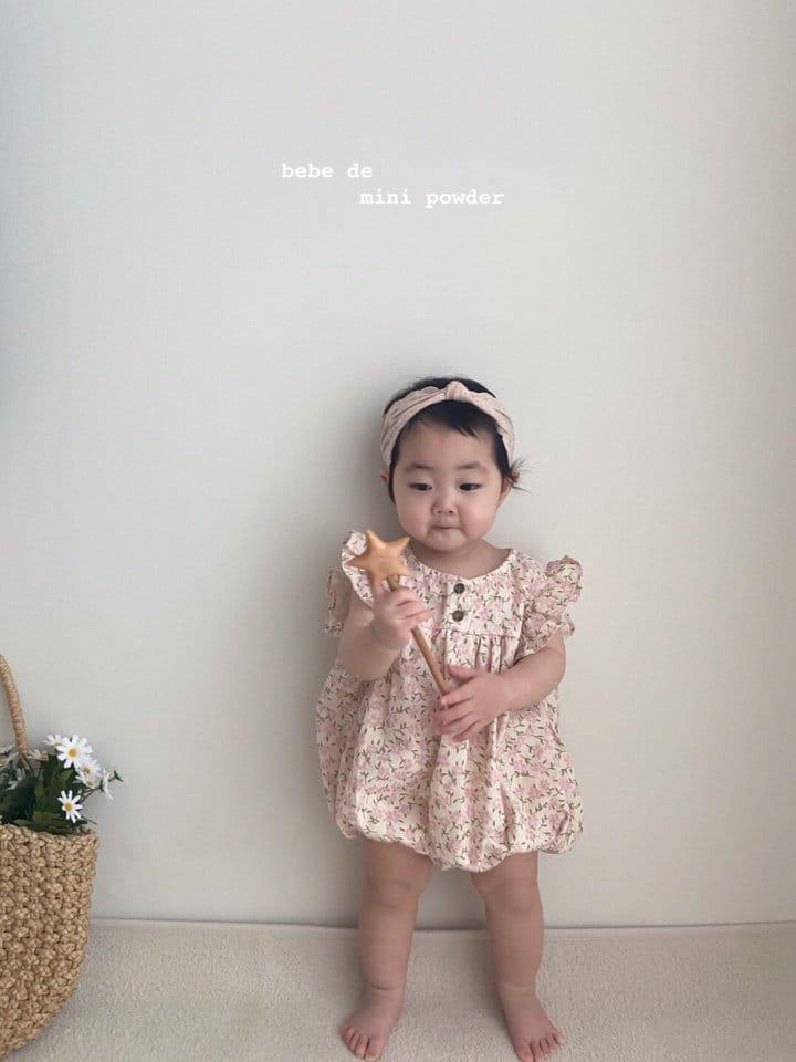 MINI POWDER - Korean Children Fashion - #Kfashion4kids - Linen Flower Bodysuit - 7