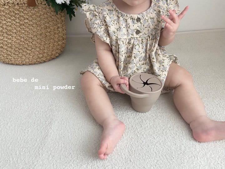 MINI POWDER - Korean Children Fashion - #Kfashion4kids - Linen Flower Bodysuit - 9