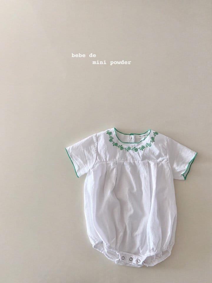 MINI POWDER - Korean Children Fashion - #Kfashion4kids - Summer Embroidery Bodysuit